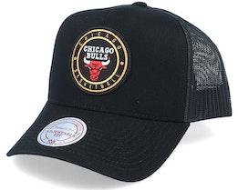 Chicago Bulls Hickory Black Trucker - Mitchell & Ness