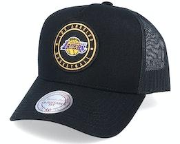 LA Lakers Hickory Black Trucker - Mitchell & Ness