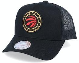 Toronto Raptors Hickory Black Trucker - Mitchell & Ness