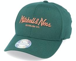 Own Brand Metallic Pinscript Forest/Copper 110 Adjustable - Mitchell & Ness