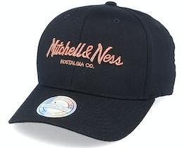 Own Brand Metallic Pinscript Black/Coppper 110 Adjustable - Mitchell & Ness
