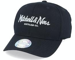 Own Brand Metallic Pinscript Black/Silver 110 Adjustable - Mitchell & Ness