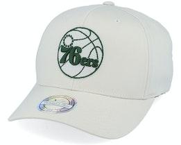 Philadelphia 76ers Stone/Forest 110 Adjustable - Mitchell & Ness