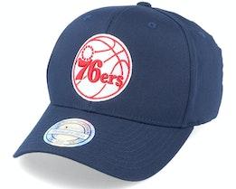 Philadelphia 76ers Navy/Red/White 110 Adjustable - Mitchell & Ness