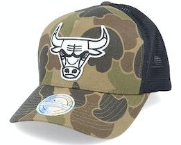 Chicago Bulls Duck Camo/Black 110 Trucker - Mitchell & Ness