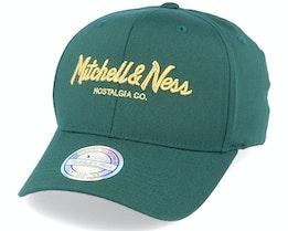 Metallic Pinscript Forest/Gold 110 Adjustable - Mitchell & Ness
