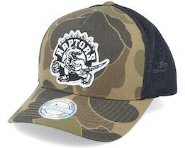 Toronto Raptors Duck Camo/Black 110 Trucker - Mitchell & Ness