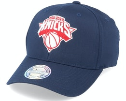 New York Knicks Navy/Red/White 110 Adjustable - Mitchell & Ness