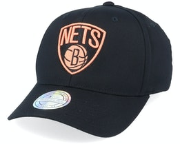 Brooklyn Nets Black/Orange 110 Adjustable - Mitchell & Ness