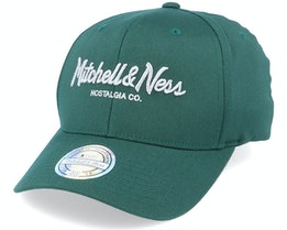 Metallic Pinscript Forest/Silver 110 Adjustable - Mitchell & Ness
