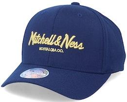 Hatstore Exclusive x Pinscript Navy/Gold 110 Adjustable - Mitchell & Ness
