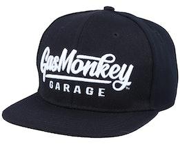 3D Script Logo Black/White Snapback - Gas Monkey