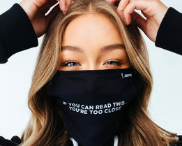 Too Close Black Face Mask - Hype