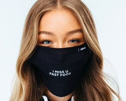 Fast Food Black Face Mask - Hype