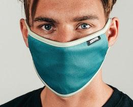 Blue & Mint Blue/White Face Mask - Hype