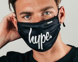 Mono Script Black/White Face Mask - Hype