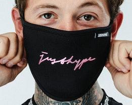 Foil Signature Black Face Mask - Hype