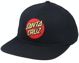 Classic Dot Snapback Black Snapback - Santa Cruz
