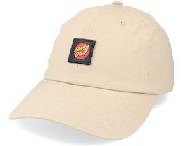 Classic Label Cap Sand Dad Cap - Santa Cruz