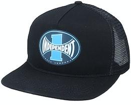Itc Span Meshback Cap Black/Black Trucker - Independent