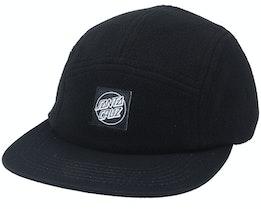 Opus Dot Label Cap Black/Black 5-Panel - Santa Cruz