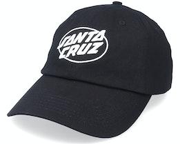 Club Oval Dot Cap Black Dad Cap - Santa Cruz
