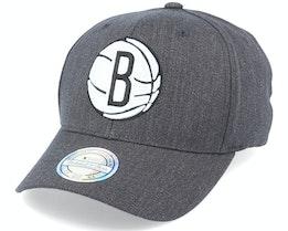 Brooklyn Nets Heather Pop Charcoal 110 Adjustable - Mitchell & Ness