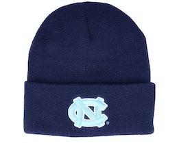 North Carolina Tar Heels Logo Cuff Knit Navy Cuff - Mitchell & Ness