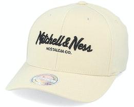 Own Brand Pinscript Snapback Stone/Black 110 Adjustable - Mitchell & Ness
