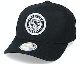 Brooklyn Nets Varsity Patch Black 110 Adjustable - Mitchell & Ness