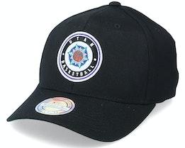 Utah Jazz Varsity Patch Black 110 Adjustable - Mitchell & Ness