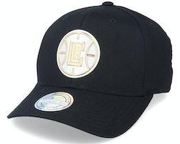 LA Clippers Metallic Weald Black Adjustable - Mitchell & Ness