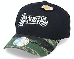 LA Lakers Tiger Camo Black/Camo 110 Adjustable - Mitchell & Ness