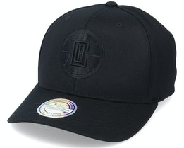 LA Clippers Black Logo/Black 110 Adjustable - Mitchell & Ness