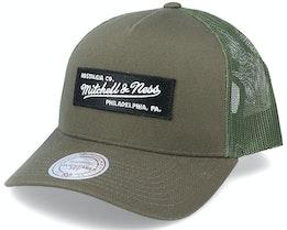 Own Brand Box Logo Olive Trucker - Mitchell & Ness
