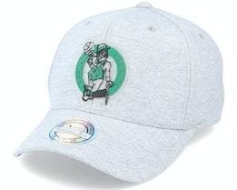 Boston Celtics Melange Knit Snapback Heather Grey 110 Adjustable - Mitchell & Ness