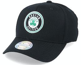 Boston Celtics Team Circle Patch Black 110 Adjustable - Mitchell & Ness