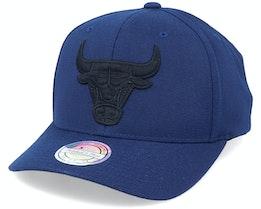 Chicago Bulls Black On Black Navy Adjustable - Mitchell & Ness