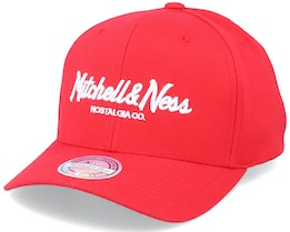 Hatstore Exclusive x Pinscript Red/White 110 Adjustable - Mitchell & Ness
