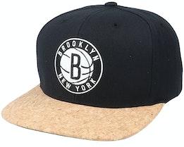 Brooklyn Nets Exclusive Cork Brim Snapback - Mitchell & Ness