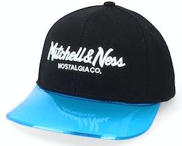 Hatstore Exclusive x Own Brand Pinscript Transparent Black Snapback - Mitchell & Ness