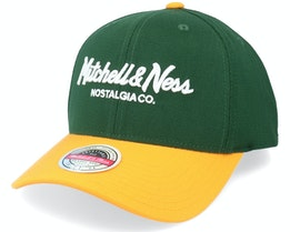 Hatstore Exclusive x Pinscript Baseball Green/Yellow - Mitchell & Ness