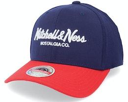 Hatstore Exclusive x Pinscript Baseball Navy/Red - Mitchell & Ness