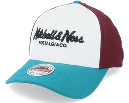 Hatstore Exclusive x Own Brand Exclusive Pinscript White/Purp - Mitchell & Ness