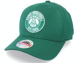 Milwaukee Bucks Team Logo Classic Red Green Adjustable - Mitchell & Ness