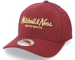 Hatstore Exclusive x Pinscript Maroon/Gold Adjustable - Mitchell & Ness