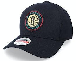 Hatstore Exclusive x Brooklyn Nets Luxe Black Adjustable - Mitchell & Ness