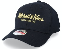 Hatstore x Exclusive Hatstore Exclusive x Pinscript Black/Gold Adjustable - Mitchell & Ness