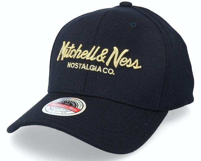 Hatstore x Exclusive Pinscript Black/Gold Adjustable - Mitchell & Ness