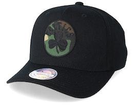 Boston Celtics 110 Black/Camo Adjustable - Mitchell & Ness